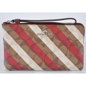 Coach C1715 Signature Striped Clutch Wristlet Bag